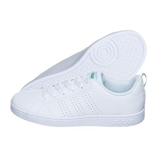 Adidas Tenis Advantage Clean para Jóvenes (Unisex), color Blanco, talla 23