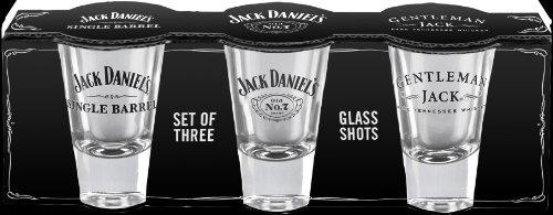 Jack Daniel's Licensed Barware Shot Glass, Set of 3