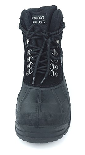 Boot Insulated Up Boot MEADA Waterproof Duck Lace Black103 Weather Snow WINBOOT Winter Cold wnwqgP4