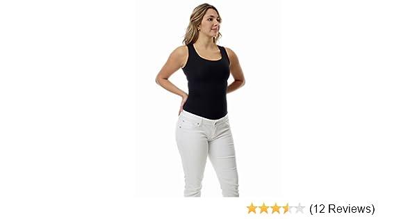 42412a3200f Amazon.com  Underworks Women s Ultra Light Cotton Compression Minimizer  Tank for Running