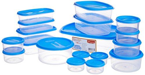 Princeware SF Tal Pak Container Set, 18-Pieces, Blue
