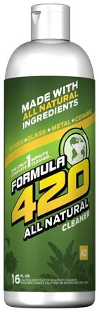 1 X ALL NATURAL Formula 420 Pipe Cleaner - Cleans - Glass, Pyrex, Metal, Ceramic 16 Ounce