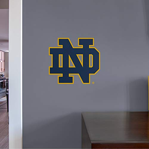 FATHEAD NCAA Notre Dame Fighting Irish - ND Logo Teammate- Officially Licensed Removable Wall Decal, Multicolor, Big