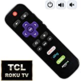 IKU Replacement Remote for TCL Roku TV with Power/Volume Control and Updated 4 Shortcuts (RC280 RC282 Standard IR Replacement for TCL Roku TV) [NOT for ROKU Stick or Player]