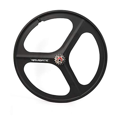 - SHZICMY Fixed Gear Wheels 700C 3-Spoke Rim Front Rear Single Speed Fixie Bicycle Wheel Set Clincher Type Wheel Front&Rear Wheel Set (US Stock) (Black, Rear Wheel Black)