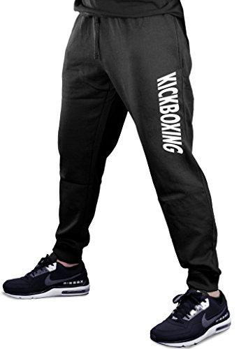 Interstate Apparel Men's Kickboxing V440 Black Fleece Gym Jogger Sweatpants Small Black