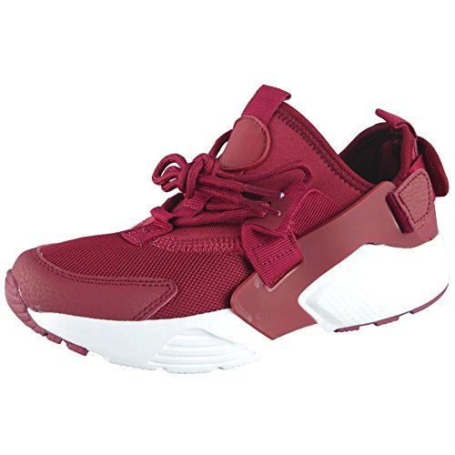 Loud Look Womens Ladies Running Trainers Lace up Flat Comfy Fitness Gym Sports Shoes Size 3-8 Wine bgY13NA