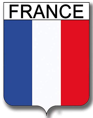 (THELITTLESTICKER Sticker, Shield France, for Car, Motorcycle, Scooter, Computer, Laptop, PC, Game Console Dim. 2.44 in x 3.38 in)