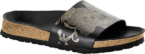 Papillio Damen Cora Pantoletten Ornaments Black-Gold