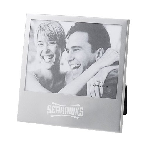 UNC Wilmington Silver 5 x 7 Photo Frame 'Seahawks Wordmark - Pictures Wilmington