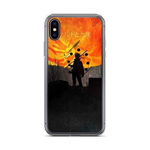 iPhone X/XS Case Anti-Scratch Japanese Comic Transparent Cases Cover Naruto Kyuubi Minimalistic Anime & Manga Graphic Novels Crystal Clear