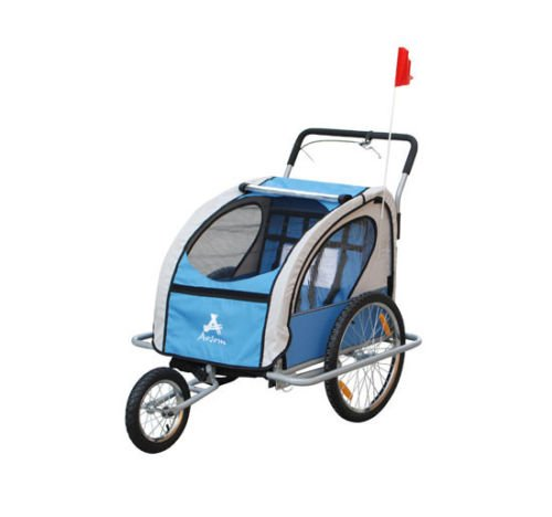 2In1 Double Baby Bicycle Bike Trailer And Stroller - 3