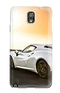 Durable Defender Case For Galaxy Note 3 Tpu Cover(alfa Romeo 4c)