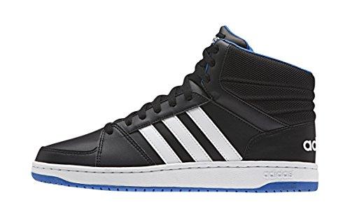 adidas Hoops Vs Mid, Zapatillas de Deporte para Hombre Negro / Blanco / Azul (Negbas / Ftwbla / Azul)