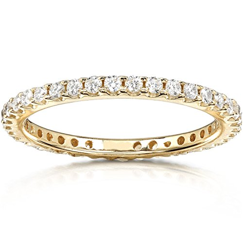 Kobelli Round Diamond Eternity Band 1/2 Carat (ctw) In 14K Yellow Gold