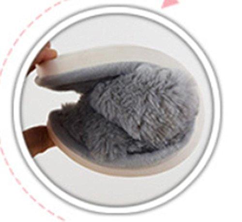 LDMB Winter warm paar Anti-Rutsch Baumwolle Hausschuhe 2 paar , gray , 42/43