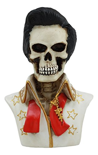 Ebros Elvis Aloha From Hawaii Mini Celebrity Skeleton Statue 4.25