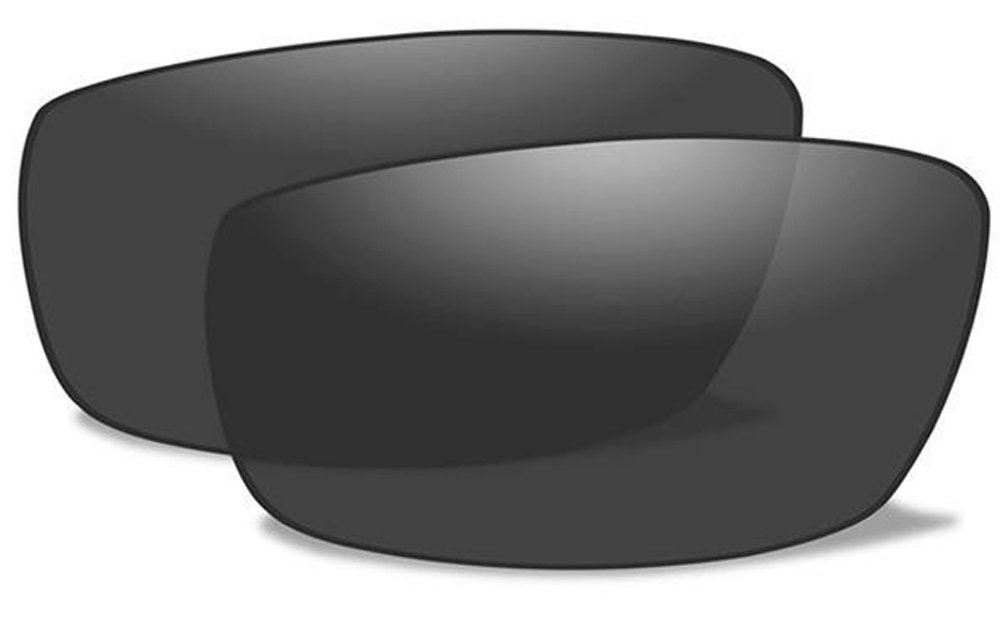 Wiley X WX BRICK Authentic Replacement Lenses (Polarized Smoke Grey Lens) by Wiley X