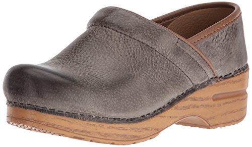 Dansko Women's Professional Mule, Stone Distressed, 38 M EU / 7.5-8 B(M) US (Dansko Shoes For Women Grey)