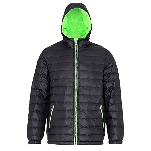 Padded Black Mens Water Yellow Jacket Bright Resistant Hooded amp; Wind 2786 OCY7Swqq