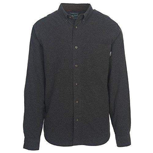 Woolrich Men's Sportsman Chamois Shirt, Dark Charcoal Heather, Small