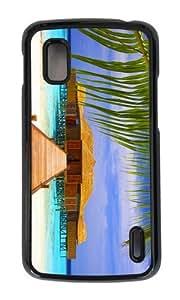 Google Nexus 4 Case,MOKSHOP Adorable beach spa Hard Case Protective Shell Cell Phone Cover For Google Nexus 4 - PC Black