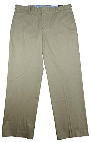 Kirkland Signature Men's Flat Front Non-Iron Comfort Pant, Khaki 40 x 32