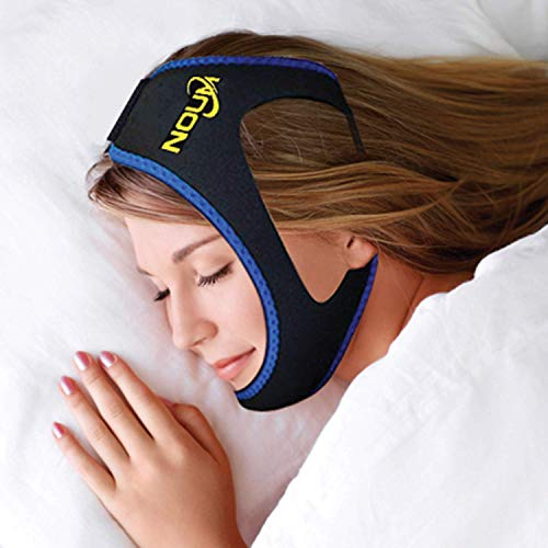Anti Snoring Chin Strap Device - Snore Stopper Jaw Strap to Stop Mouth Breathing and Snoring During Sleep - Sleeping Aids and Snore Solutions - Comfortable Neoprene and Adjustable to Fit Men and Women