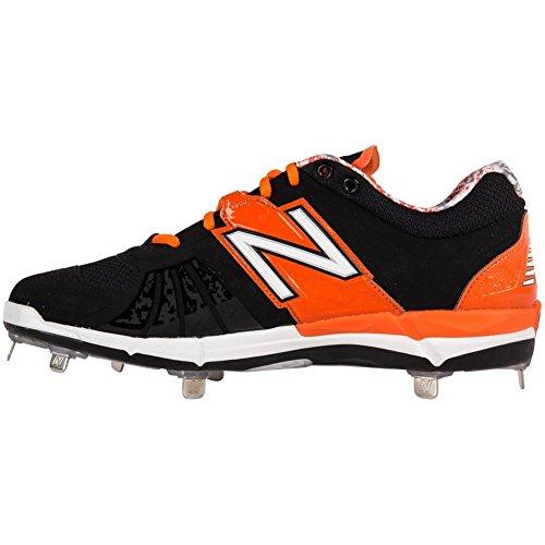 New Balance LowCut 3000V2 Metal Cleat Shoe Mens Baseball 15 Black-Orange tDEHx
