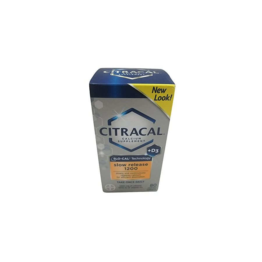 Citracal Calcium Plus D Slow Release 1200, 80 Count (Pack of 3)