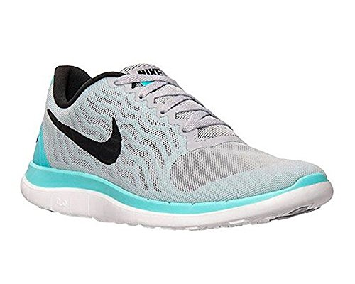Nike Vrouwen Gratis 4 718412 004 Wolf Grijs / Zwart-light Aqua (9,5)