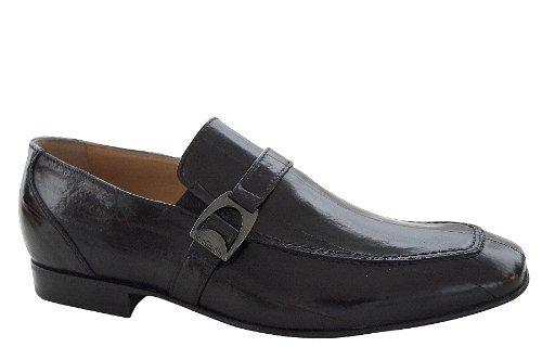 Negro Giardini - Zapatos Hombre Clásicos Elegantes Ceremonia Mocasines Piel Anguila - Talla : 45 - Color : Negro: Amazon.es: Zapatos y complementos
