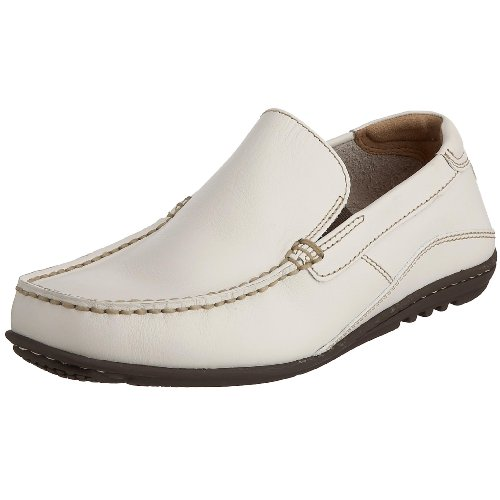 Rockport Mens Cape Noble Driving Shoe- White Leather