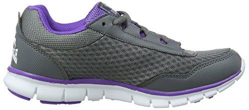 Lonsdale Southwick - Zapatillas de running Mujer Gris (Grey/purple)