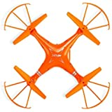 Night lions Tech (TM) MJX X705C 2.4GHz 6-Axis Gyro Remote Control Quadcopter 3D Roll RC Drone Orange With C4005 WiFi FPV Camera