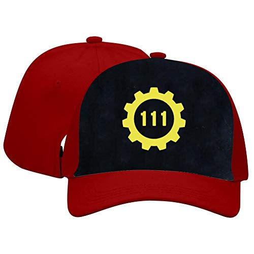DDANCap Vault 111 Unisex Adjustable Baseball Cap for Men and Women Red -