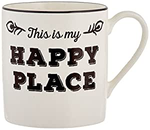 Lenox Around the Table This is My Happy Place Mug, White