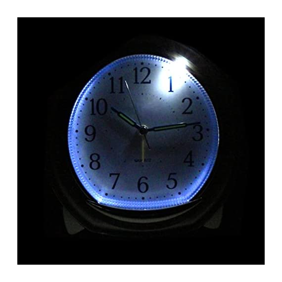 "BonyTek Desk Alarm Clock, Silent Quartz Alarm Clock with Loud Mechanical Bell Bird Song Melody Alarm, Nightlight, Snooze, Silent Sweep Seconds, Luminous Hands, Battery Powered (Sliver) - 1】.Silent -- Silent sweep seconds movement, quiet concise design alarm clock without annoying tick tock sound. 2】. 3 Types of Alarm Sounds -- 【Birdcall / 8 Pieces of Music / Mechanical Bell】Three types of alarm sounds played alternately. After starting the alarm, the first is the 3 times sweet birdsong, then melody and mechanical bell cycling played. 3】. Snooze -- The snooze allows the alarm to ring every five minutes, It will stop ringing until switched off or half an hour later. when you shut off the alarm, it says ""good morning!"". Built-in real mechanical bells, Loud sound for heavy sleepers, You will never sleep through our Alarm Clock! - clocks, bedroom-decor, bedroom - 41zoFu2%2BJIL. SS570  -"