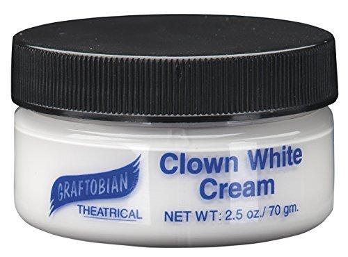 Payaso blanco crema 2,5 onzas por Graftobian