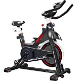 pooboo Indoor Cycling Bike, Belt Drive Indoor Exercise Bike, Stationary Bike LCD Display Heart Pulse Trainer Bike