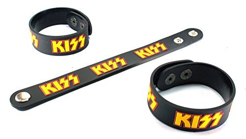 KISS New Bracelet Rubber Wristband Rock And Roll All Night HA78 (Rock Bands Bracelets)