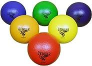 """GSM Brands Dodgeballs - Foam, Soft Skin, Low Bounce, 6"""" - Set of 6 Dodge Balls for Kids and A"""