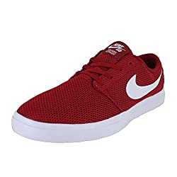 Nike Mens Sb Portmore Ii Ultralight Gym Red White Size 11.5
