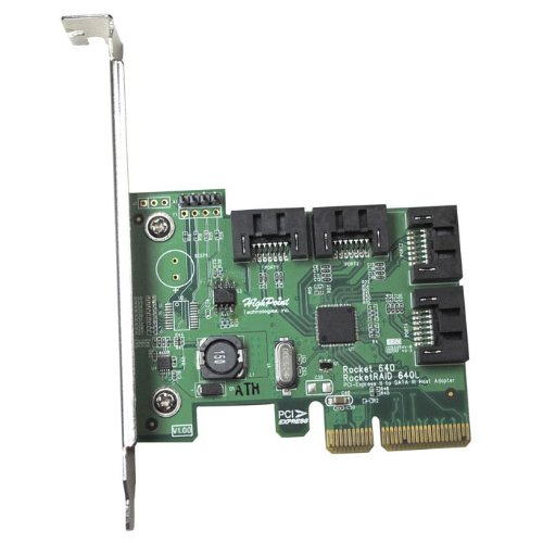 HighPoint Rocket 640L Lite Version 4-Port PCI-Express 2.0 x4 SATA 6Gb/s RAID - Highpoint Shopping