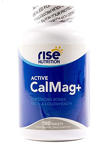 - Rise Nutrition Calcium and Magnesium With Vitamin D3 – Helps Boost For Bone, Teeth and Colon Health – All Natural Daily Dietary Supplement – 180 Vegetarian Cal-Mag Tablets