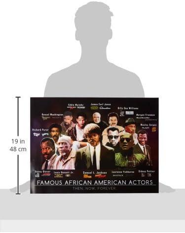 24x18 Famous African American Actors Poster Art Print 2