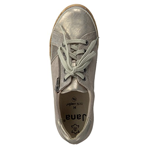 Señoras de la zapatilla de deporte Jana 8-23706-355 arena ancho intercambiable H Beige