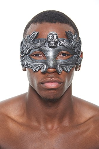 Colossus Gladiator Masquerade Mask (Silver; Unisex One Size) (Colossus Costume)