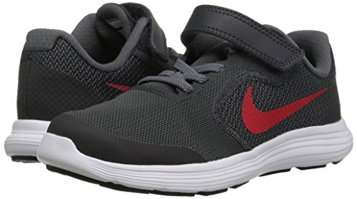 NIKE Kids' Revolution 3 (Psv) Running-Shoes, Black/University Red/Dark Grey, 1 M US Little Kid by Nike (Image #6)