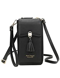 Women RFID Blocking Credit Card Wallet Purse Cell Phone Crossbody Small Bag with 2 Removable Straps